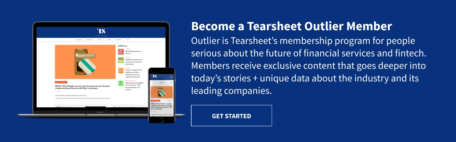 Tearsheet Outlier information and signup