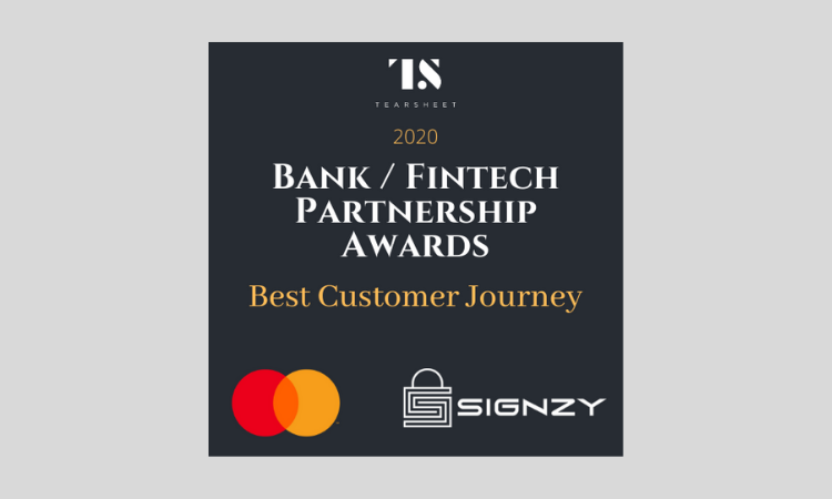 Tearsheet's Bank Fintech Partnership Award: Mastercard and Signzy