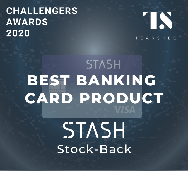 Best Banking Card Product: Stash's Stock Back Card